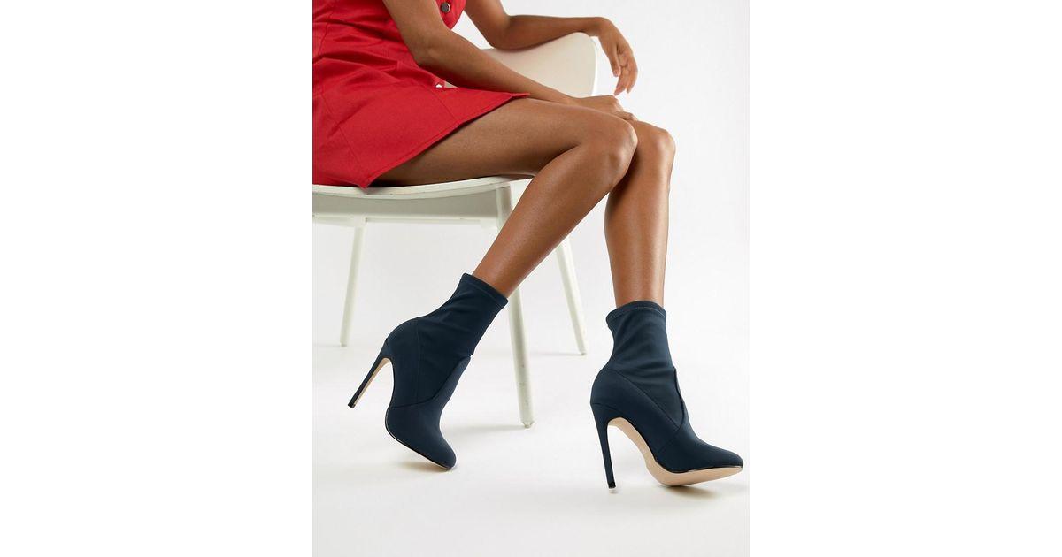 Round Toe Stiletto Boots