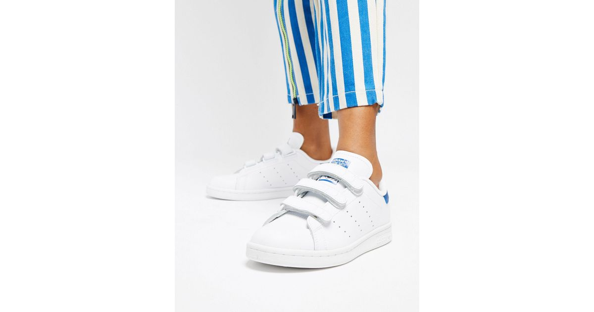 Adidas Originals White Stan Smith Velcro Trainers
