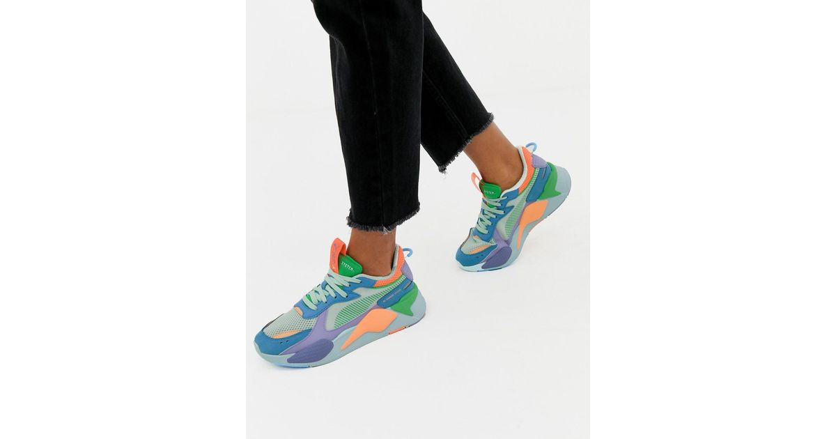 PUMA Rs-x Toys Green And Blue Trainers