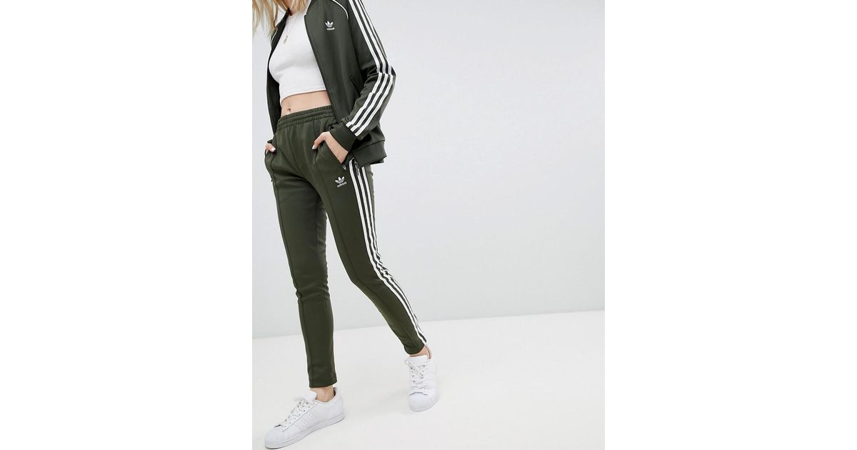 Adidas Bandes Pantalon Jogging De En Green Trois Originals Coloris drBeCxo