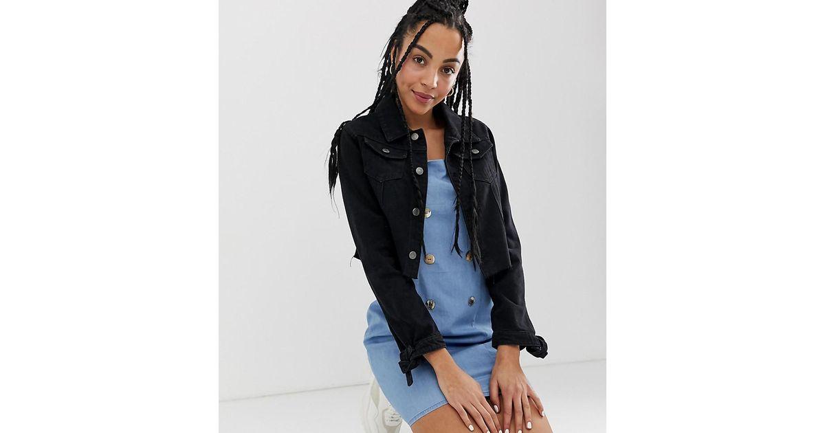 9f4d37ddc Urban Bliss Washed Black Crop Jacket