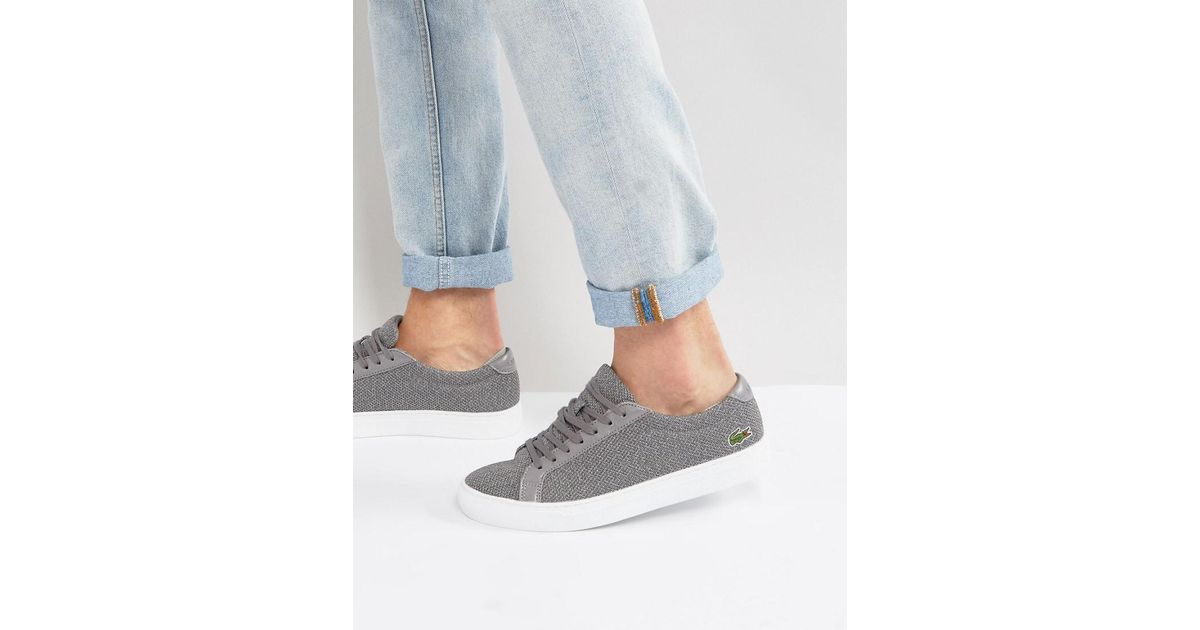 220a75144785 Lacoste L.12.12 Marl Pique Trainers in Gray for Men - Lyst