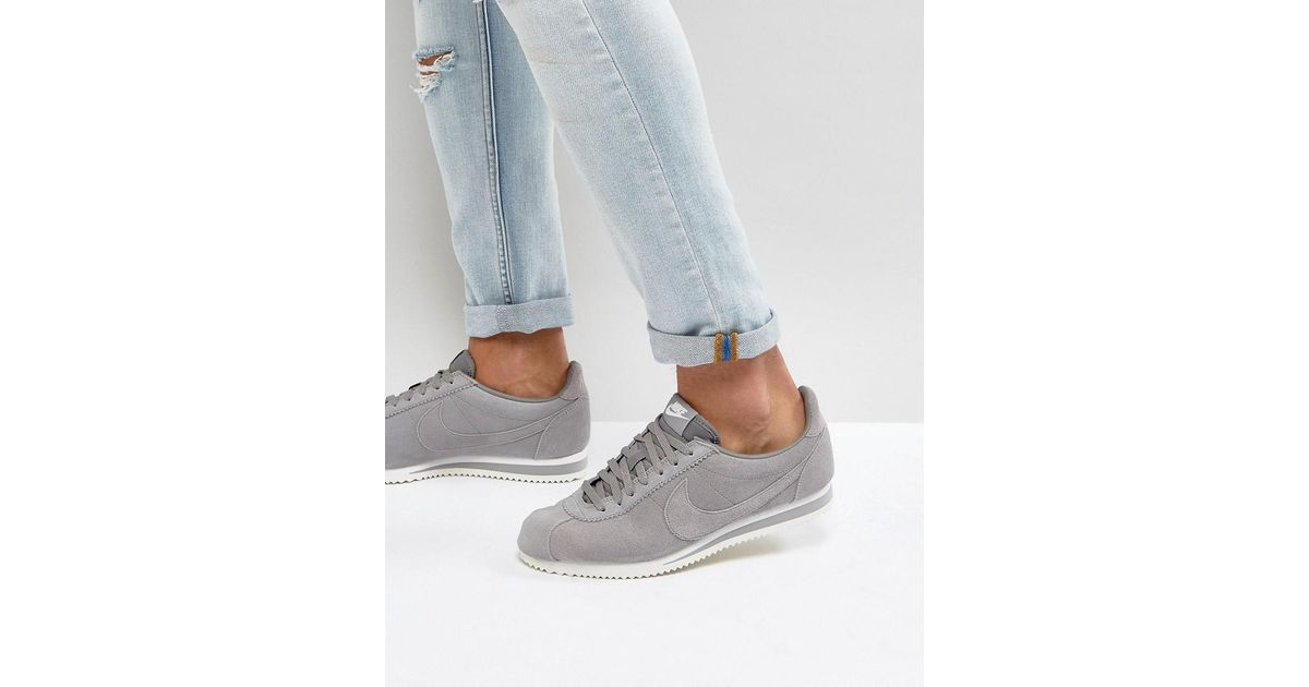 competitive price 0dfd2 8f3f4 Nike Classic Cortez Se Trainers In Grey 902801-003 in Gray for Men - Lyst