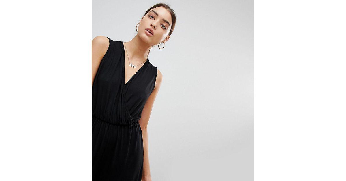 clients first distinctive style uk cheap sale PRETTYLITTLETHING Black V Neck Sleeveless Romper