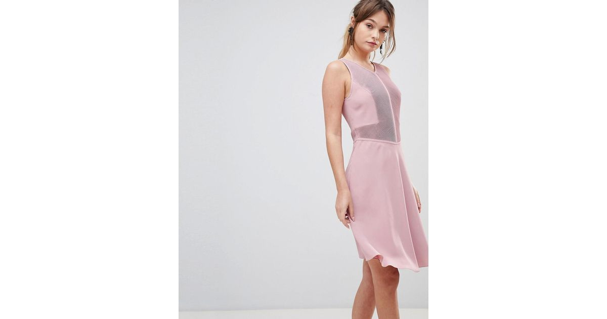 61dc77298bfc Reiss Rosa Velour Dress in Pink - Lyst