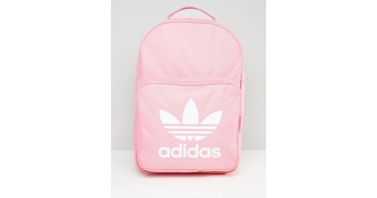 Adidas Originals Trefoil Logo Backpack In Pink