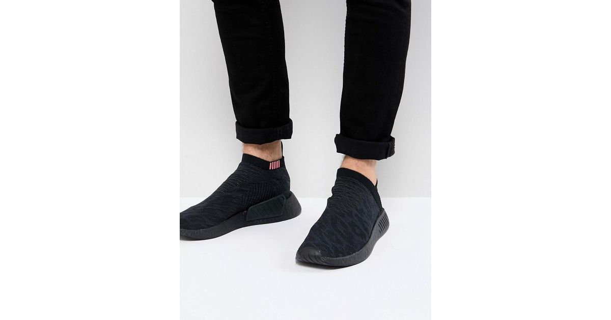 01f86504f Lyst - adidas Originals Nmd Cs2 Primeknit Boost Sneakers In Black Cq2373 in  Black for Men
