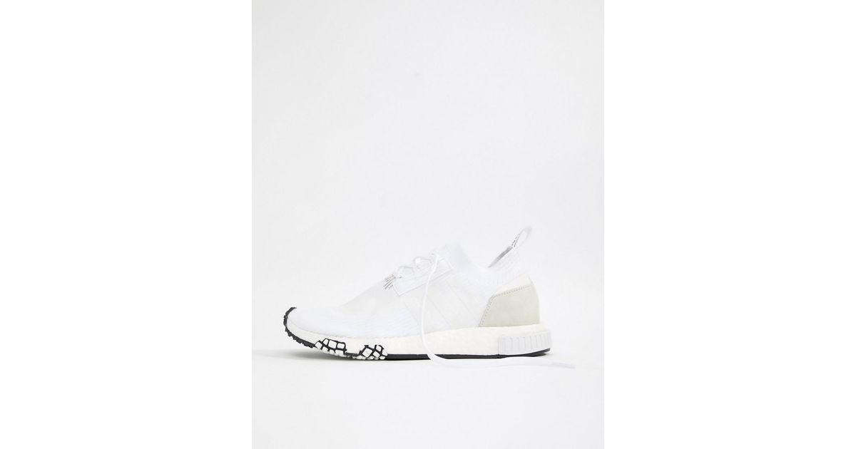 new style e4c08 a7aaa adidas Originals Nmd Racer Pk Sneakers In White B37639 in White for Men -  Lyst