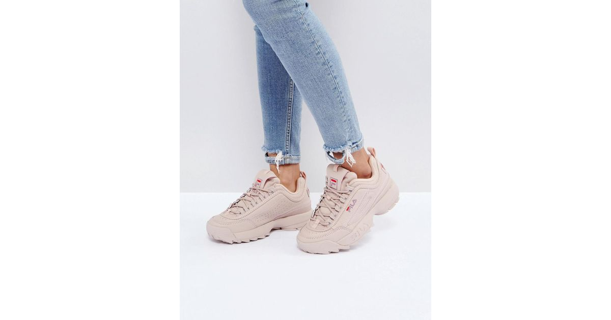 Fila Natural Disruptor Low Trainers In Nude
