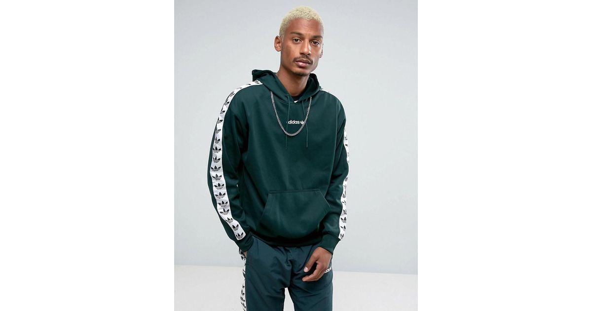 Adidas Originals Adicolor Tnt Tape Hoodie In Green Bs4689 for men