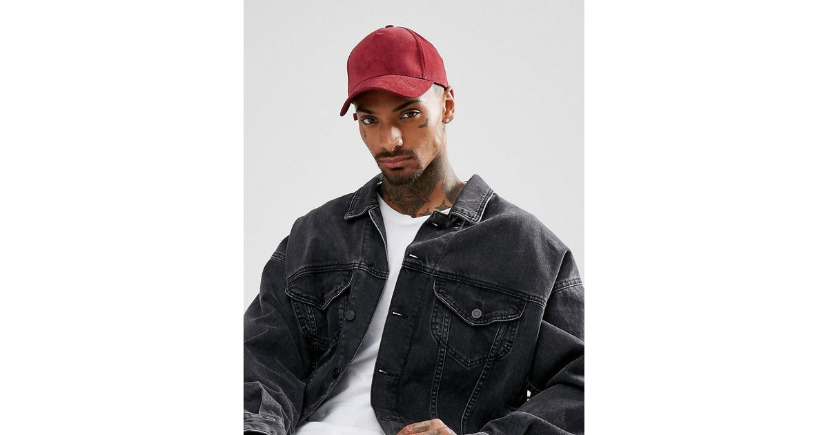 Baseball Cap In Burgundy Cord With CPH Embroidery - Burgundy Asos xGJr5