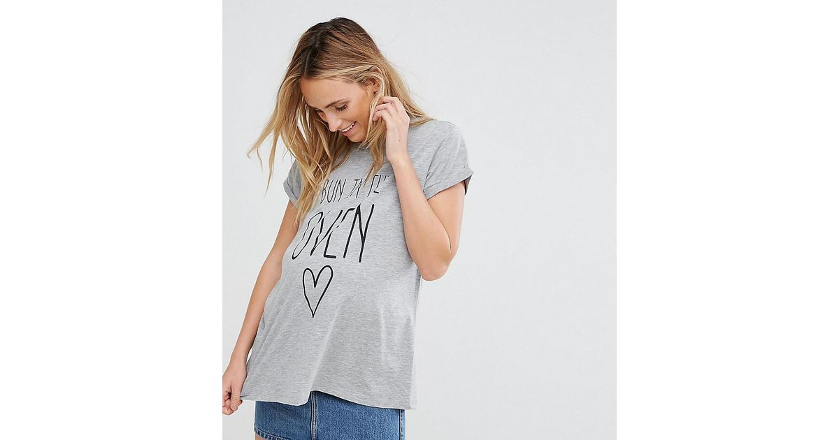 ASOS Gray Bun In Oven T-shirt