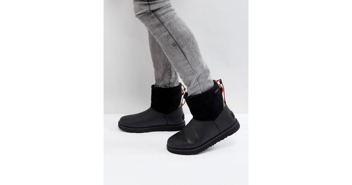 5d666f439b9 Ugg Black Classic Toggle Waterproof Boots