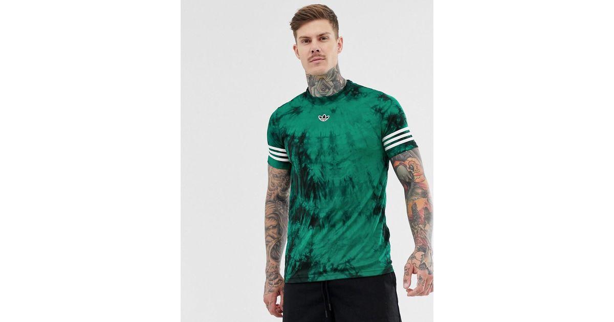 adidas Originals Tshirt à rayures avec logo devant effet