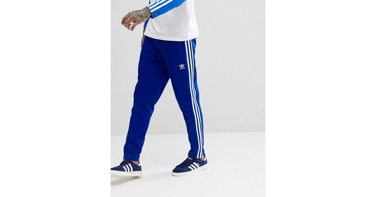 ee807f4b Adidas Originals Adicolor Beckenbauer Joggers In Skinny Fit In Blue Cw1271  for men