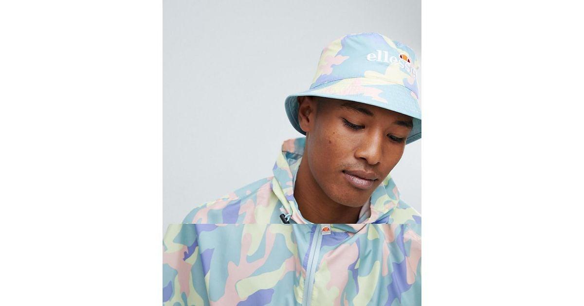 b1ad5c6c1 Ellesse Blue Binno Reversible Camo Bucket Hat for men