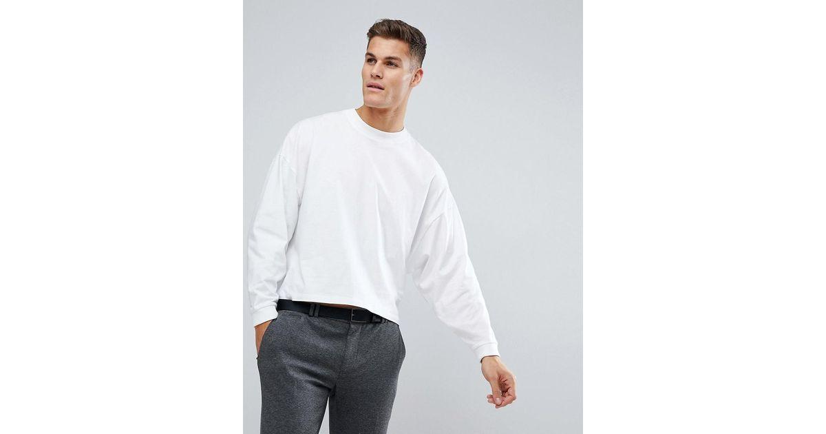 Oversize Avec Chauve Shirt Coloris Pour White Homme Manches Souris T En Asos Longues Extrmes Court f6vYmI7gyb