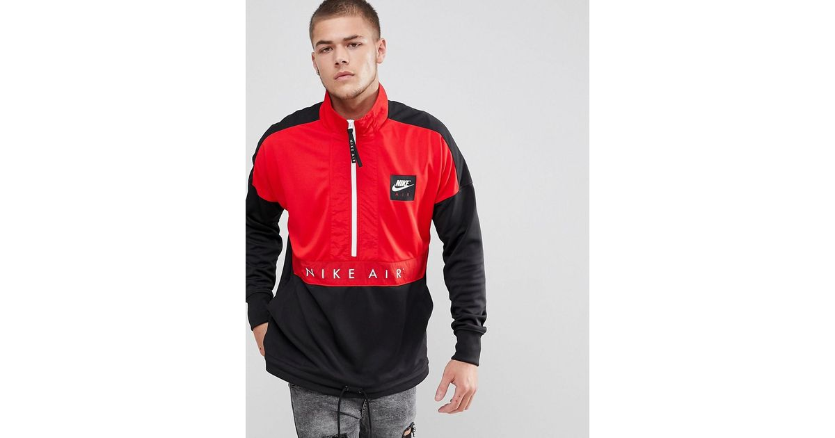 Nike Air Half zip Jacket In Black 918324 657 for men