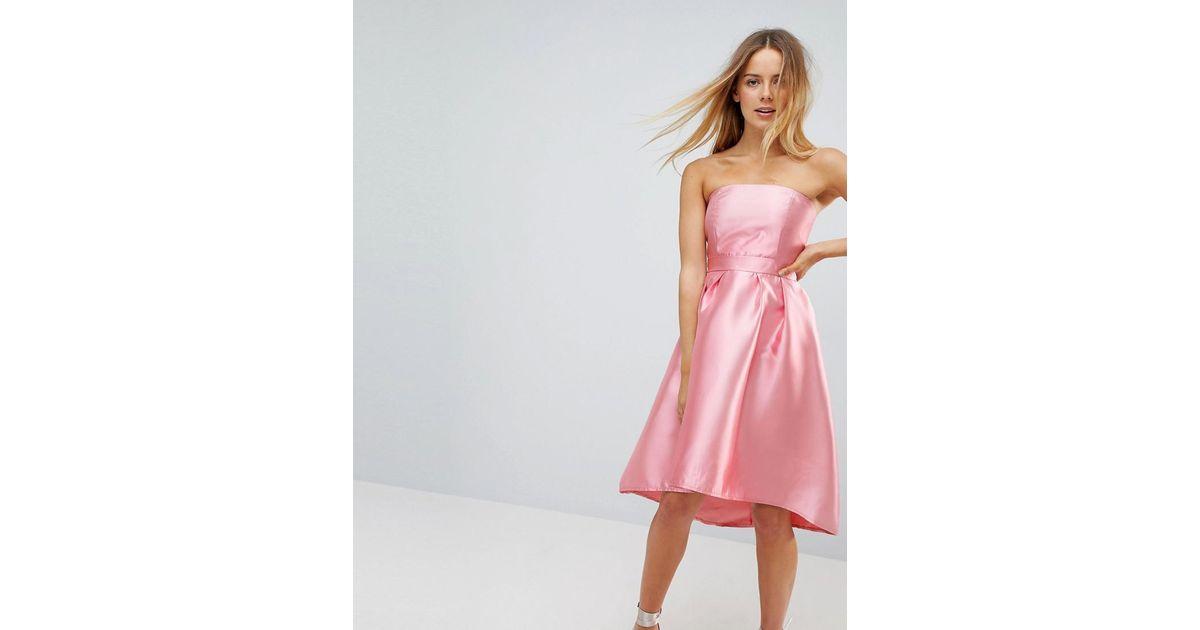 Schön Pink Strapless Prom Dress Fotos - Brautkleider Ideen ...