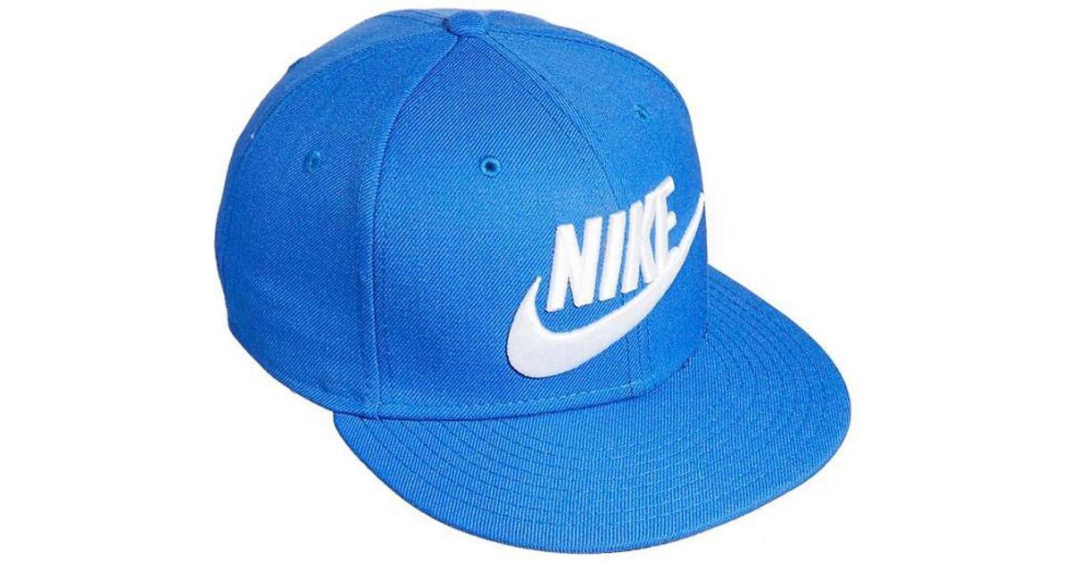 10cca027833 Nike True Graphic Futura Snapback Cap in Blue for Men - Lyst