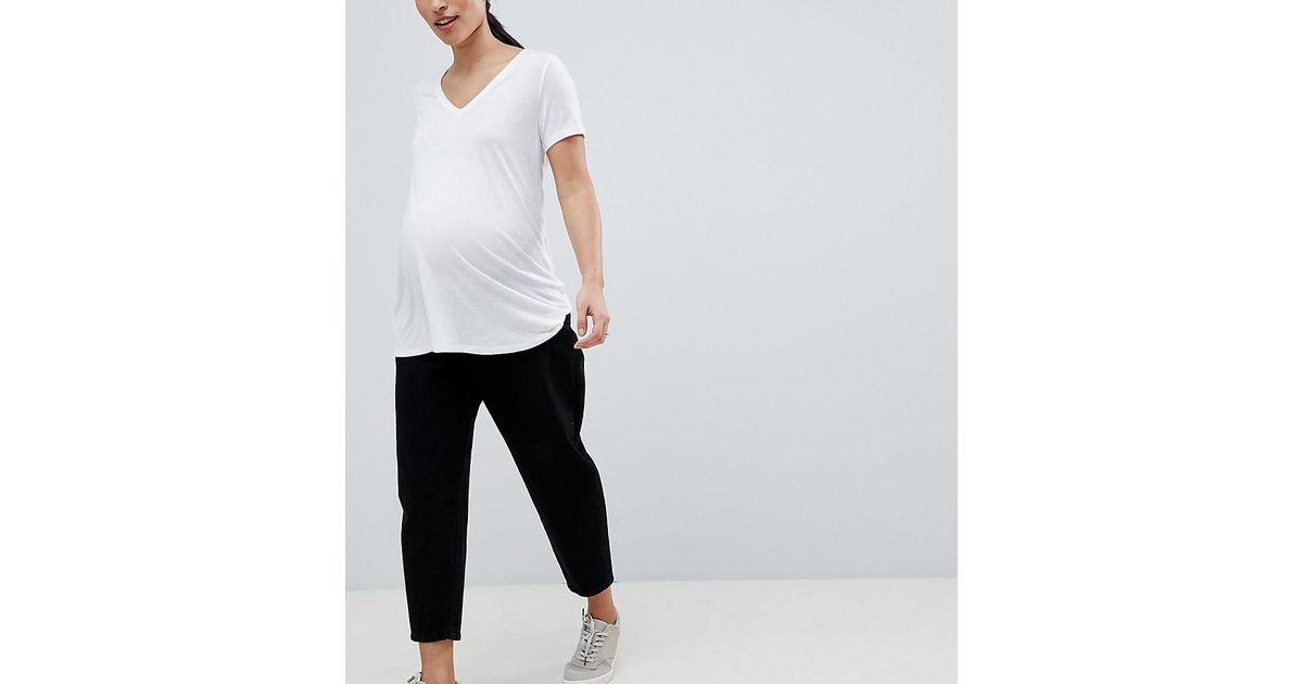 ASOS DESIGN Maternity balloon boyfriend jeans in clean black - Clean black Asos Maternity 2c6TBmcc