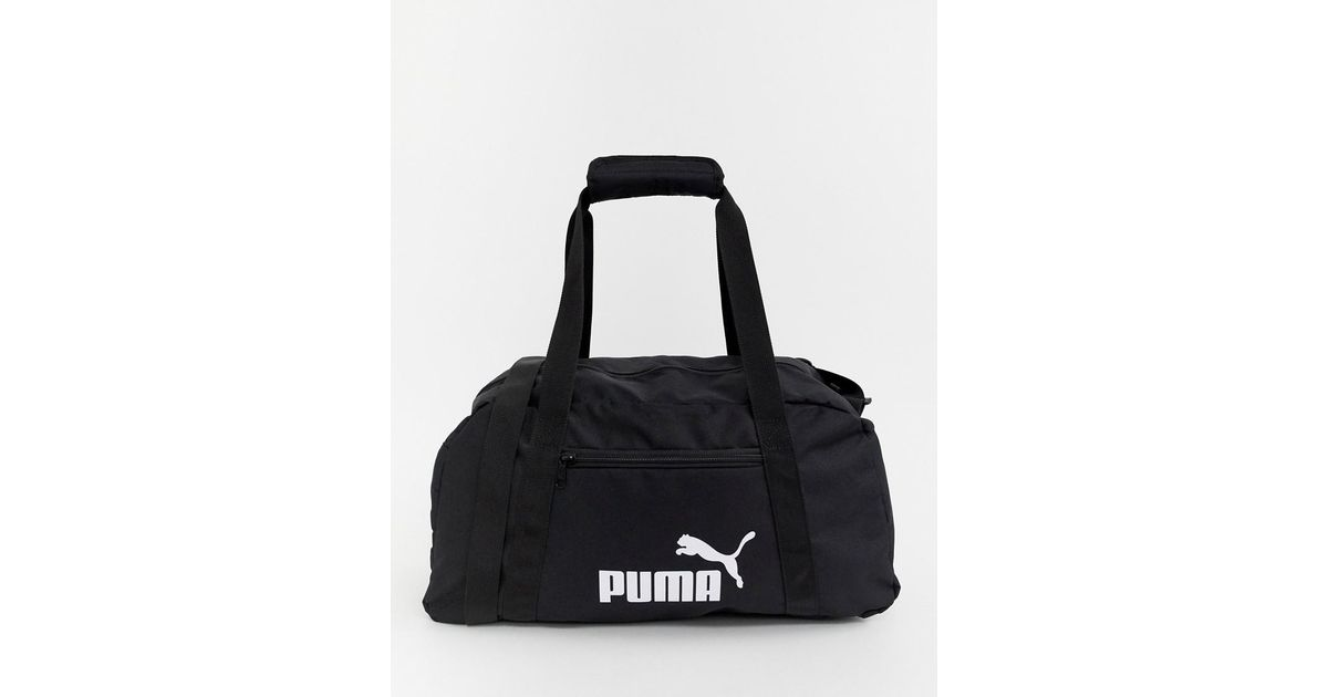 PUMA Phase Sport Holdall Bag In Black in Black for Men - Lyst 27577bfe8dc61