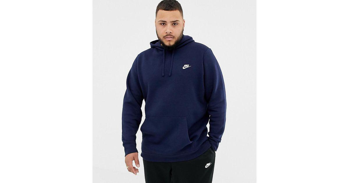 8c58c32dcb81 Nike Club Swoosh Pullover Hoodie In Navy 804346-451 in Blue for Men - Lyst