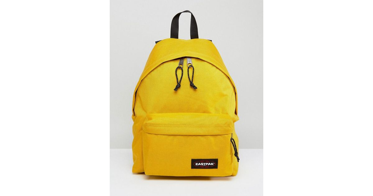 bbed3dc5b01 Eastpak Padded Pak'r Backpack In Yellow 22l in Yellow for Men - Lyst