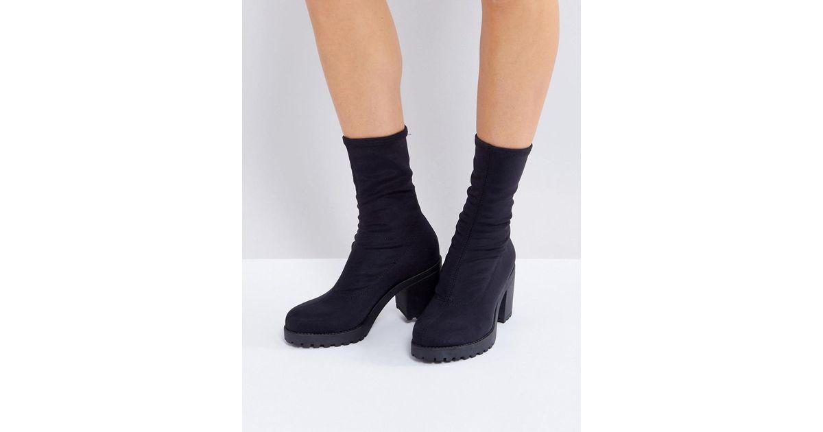 Vagabond Leather Grace Black Sock Boots