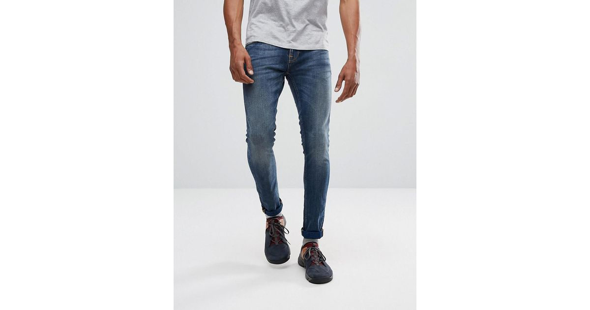 e7b37c2b710c Lyst - Nudie Jeans Co Tight Terry Super Skinny Jean Double Indigo Wash in  Blue for Men