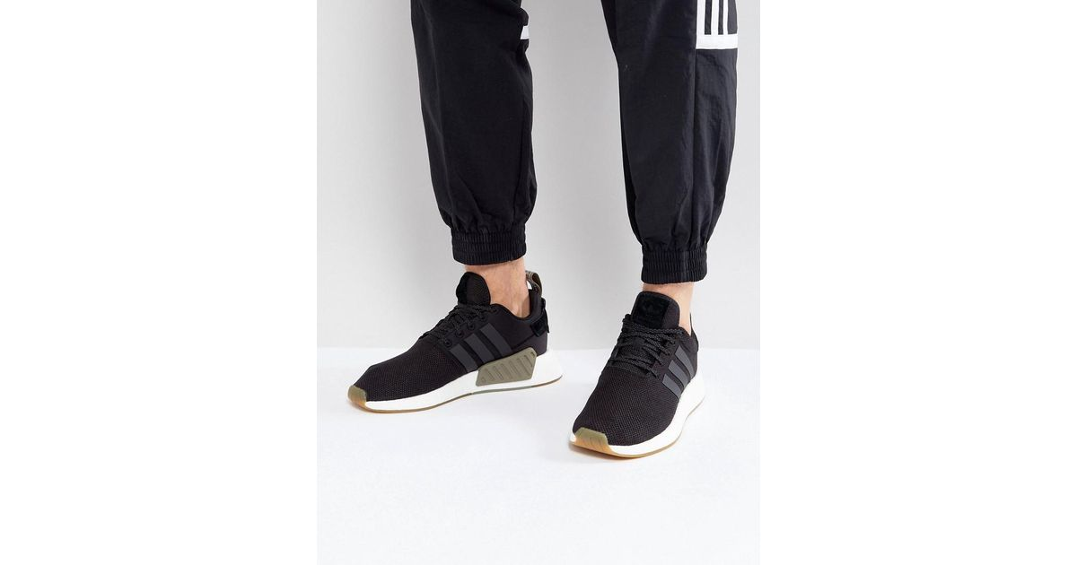huge discount fd0ce d4ed5 Adidas Originals Nmd R2 Sneakers In Black By9917 for men