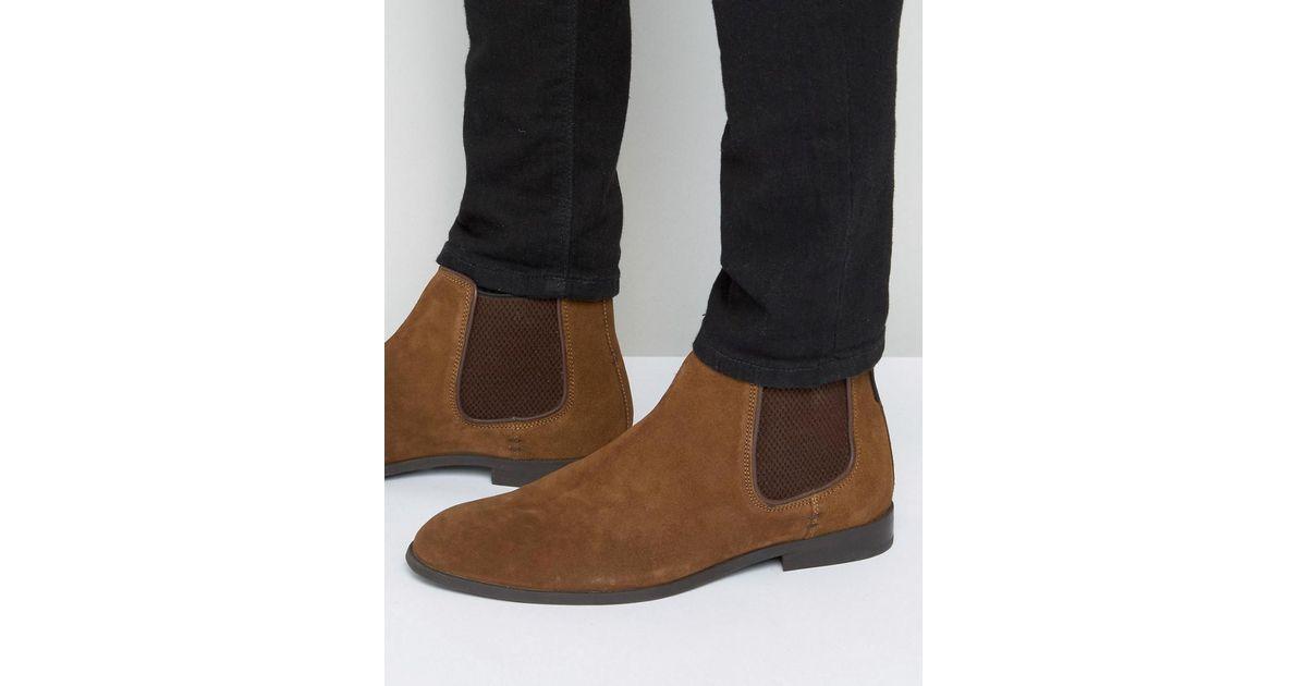 c67ac48ead3 Ben Sherman Brown Chelsea Boots In Tan Suede for men