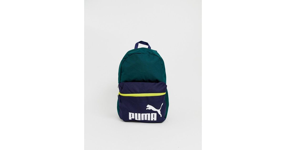 3aaf05271 PUMA Phase Back Pack In Green Color Block in Green for Men - Save 23% - Lyst