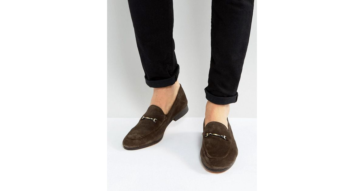 71e56eac7c8 Lyst - Kg By Kurt Geiger Max Suede Smart Loafers in Brown for Men
