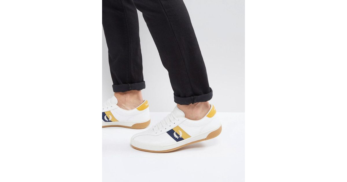 official photos 21232 8fd2a Lyst - Fred Perry B1 Sports Authentic Tennis Leather Sneakers White in White  for Men