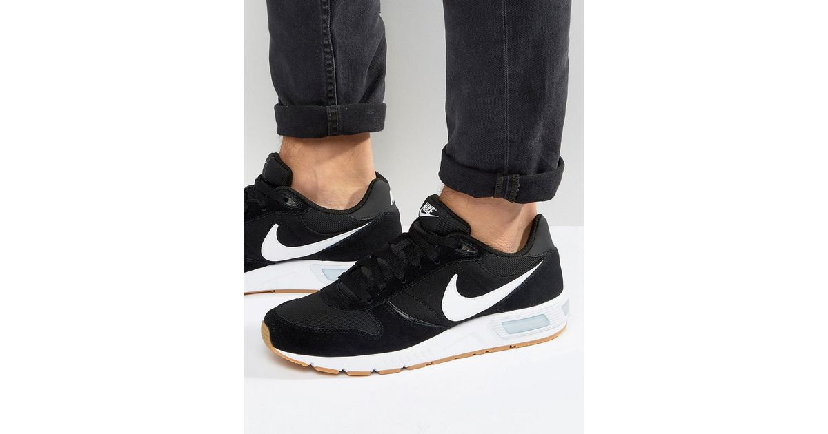 Hazme imagen esposas  Nike Leather Nightgazer Trainers In Black 644402-006 for Men - Lyst