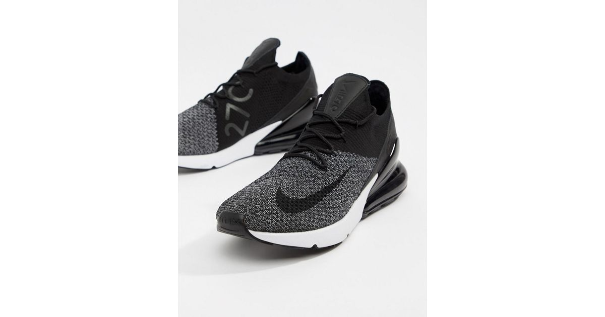 Nike Air Max 270 Flyknit Trainers In Black Ao1023-001 in Black for Men -  Lyst 494fb0d6a