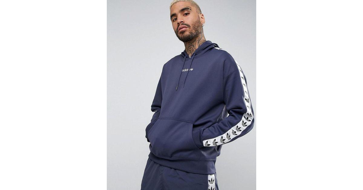 large discount pick up buy online Adidas Originals Blue Adicolor Tnt Tape Hoodie for men