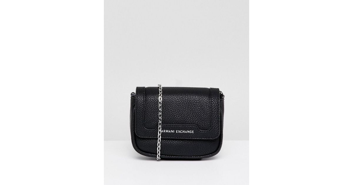 Lyst - Armani Exchange Chain Camera Crossbody Bag in Black b4f702705c