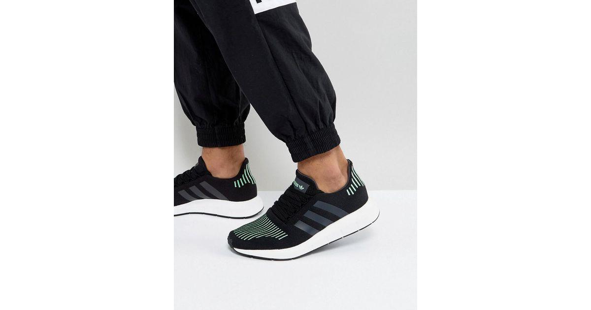 4620d12de3f84f Lyst - adidas Originals Swift Run Sneakers In Black Cg4110 in Black for Men