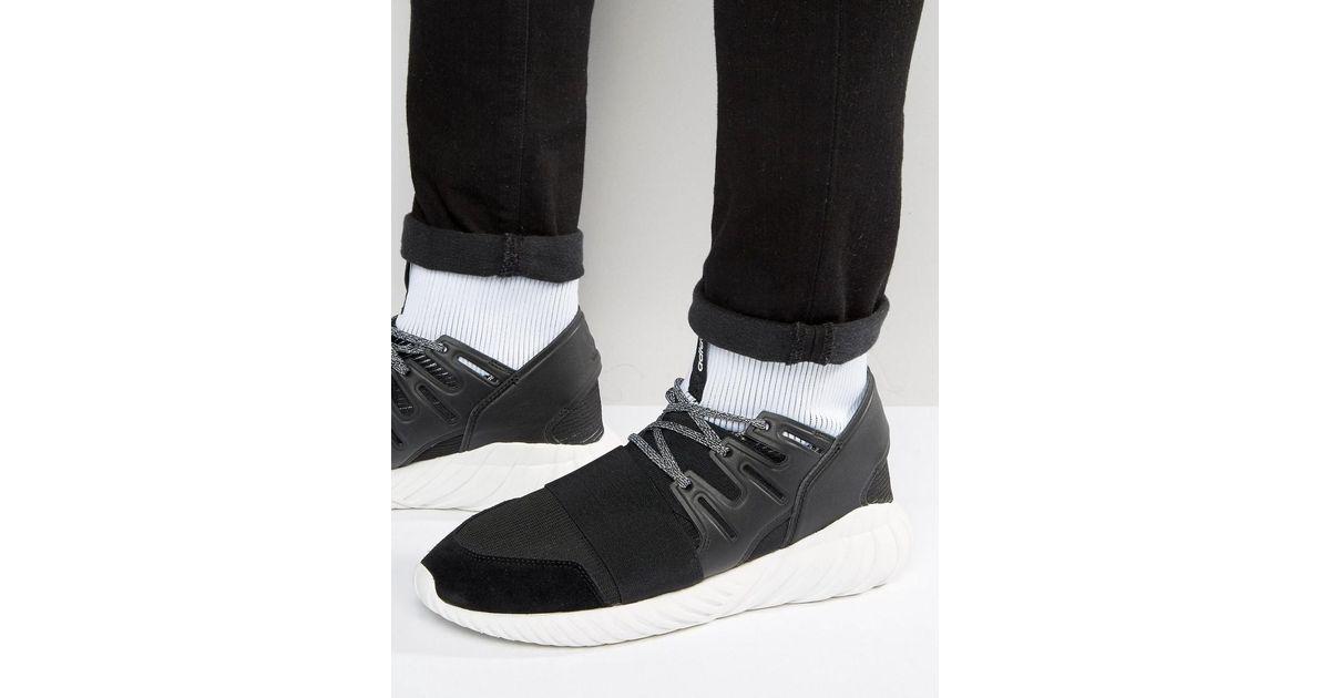 online store 7e6f7 de46f Adidas Originals Tubular Doom Trainers In Black Ba7555 for men