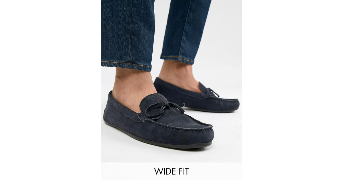 5e96cefa374 KG by Kurt Geiger Kg By Kurt Geiger Wide Fit Ringwood Driving Shoes In Suede  in Blue for Men - Lyst
