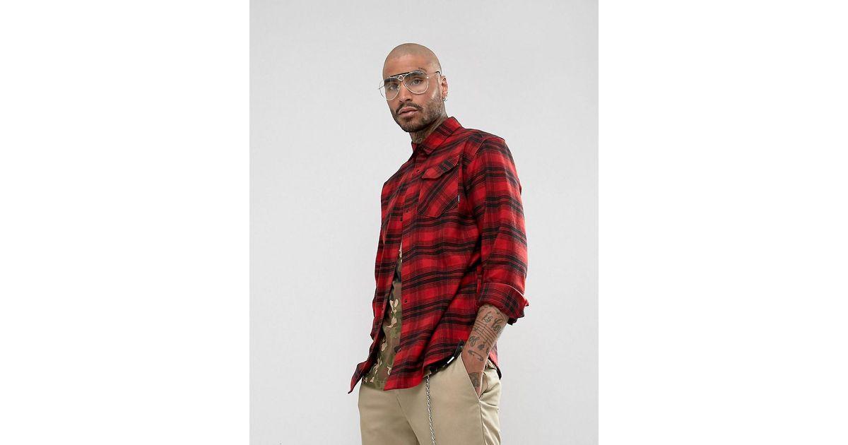 Lyst adidas Originals camiseta enorme en rojo comprobar br7936 en rojo