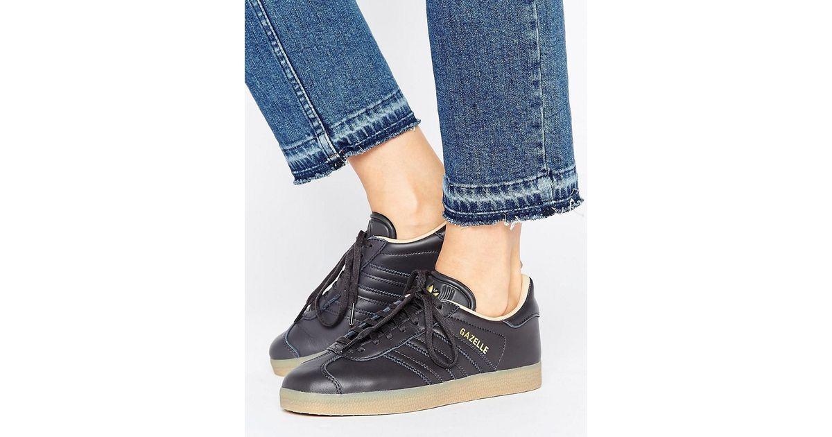 adidas Originals Black Leather Gazelle