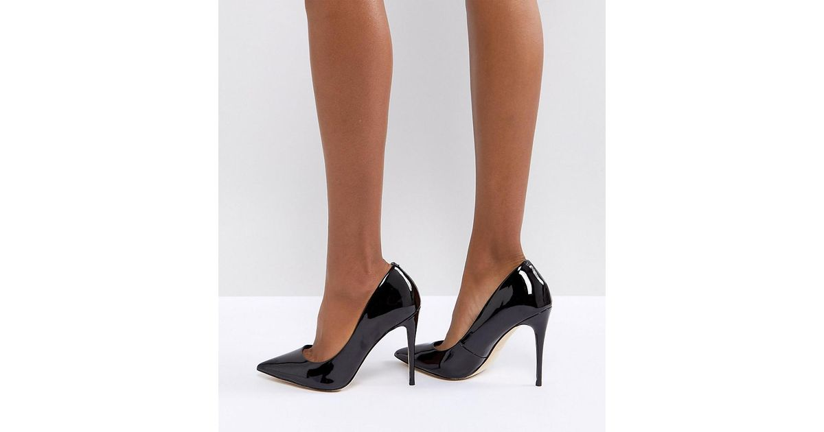 Wide Fit Black Pointed Court Shoes - Lyst