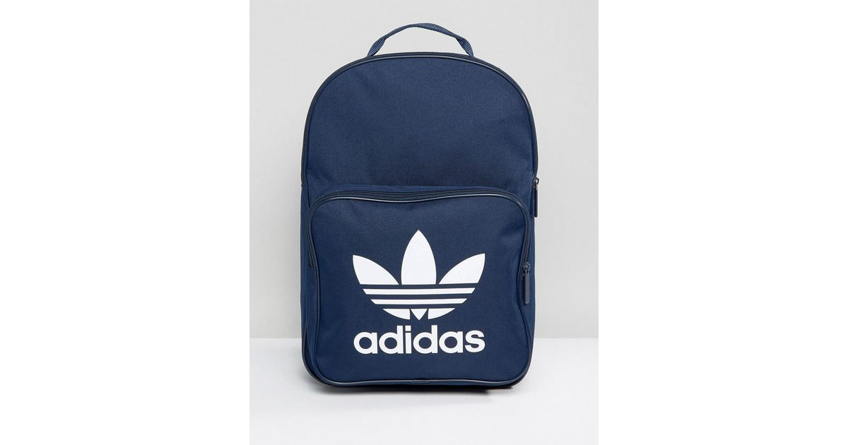 aef4a753d6 adidas Originals Trefoil Backpack In Collegiate Navy With Front Pocket  Bk6724 in Blue for Men - Lyst