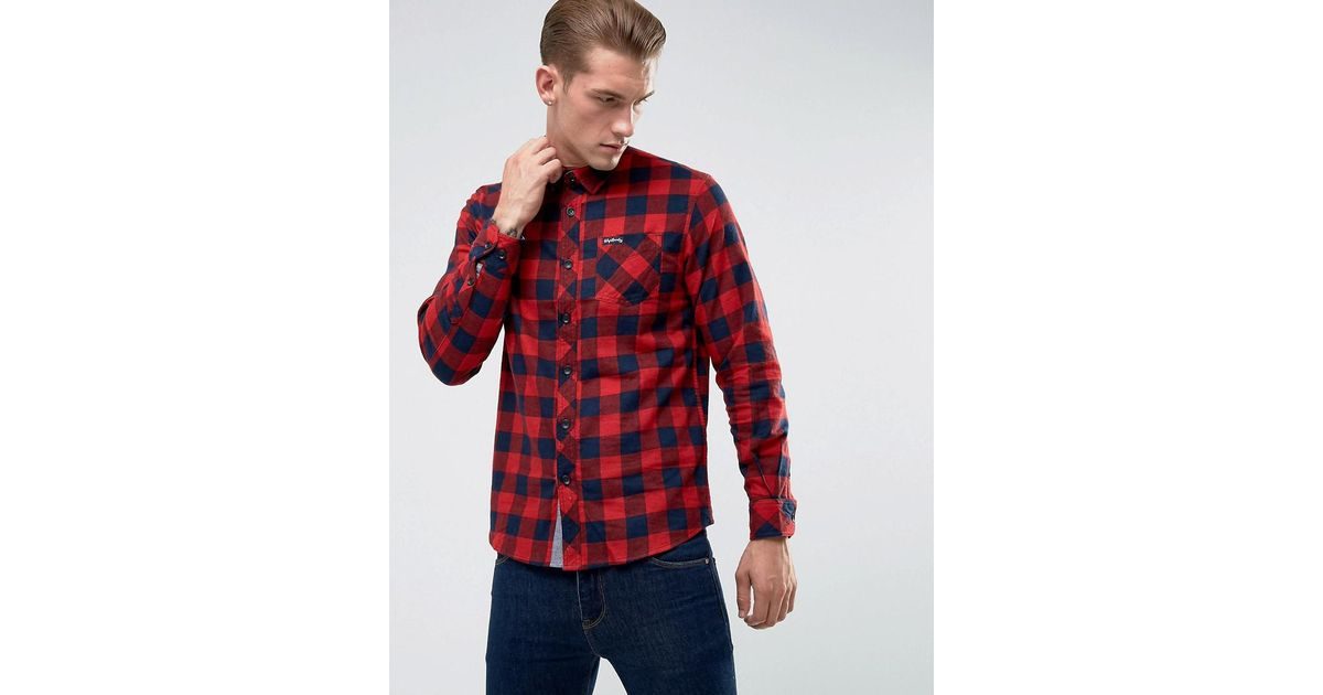 2121e395a8 Tokyo Laundry Buffalo Flannel Check Shirt in Red for Men - Lyst