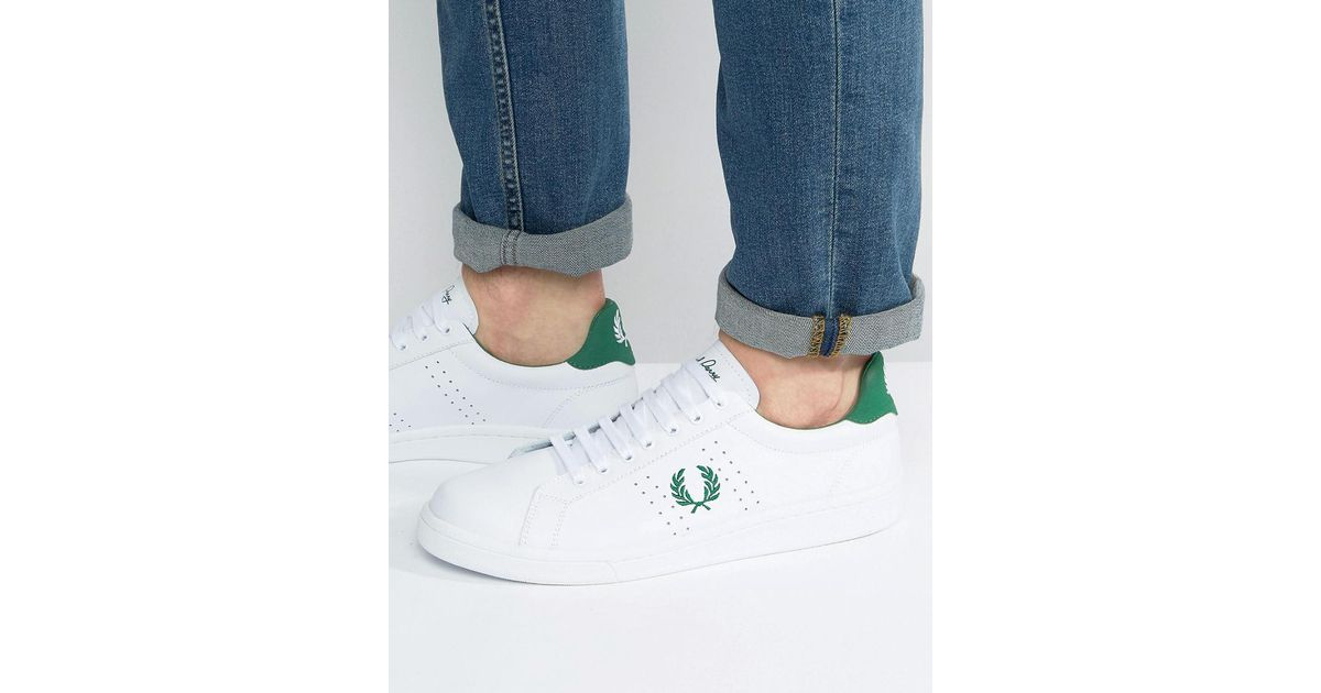 Fred Perry B721 Leather Trainers in