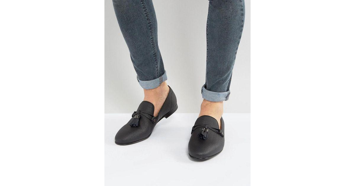 cab8d00f5ff99 ALDO Black Mccrery Texture Tassel Loafers for men