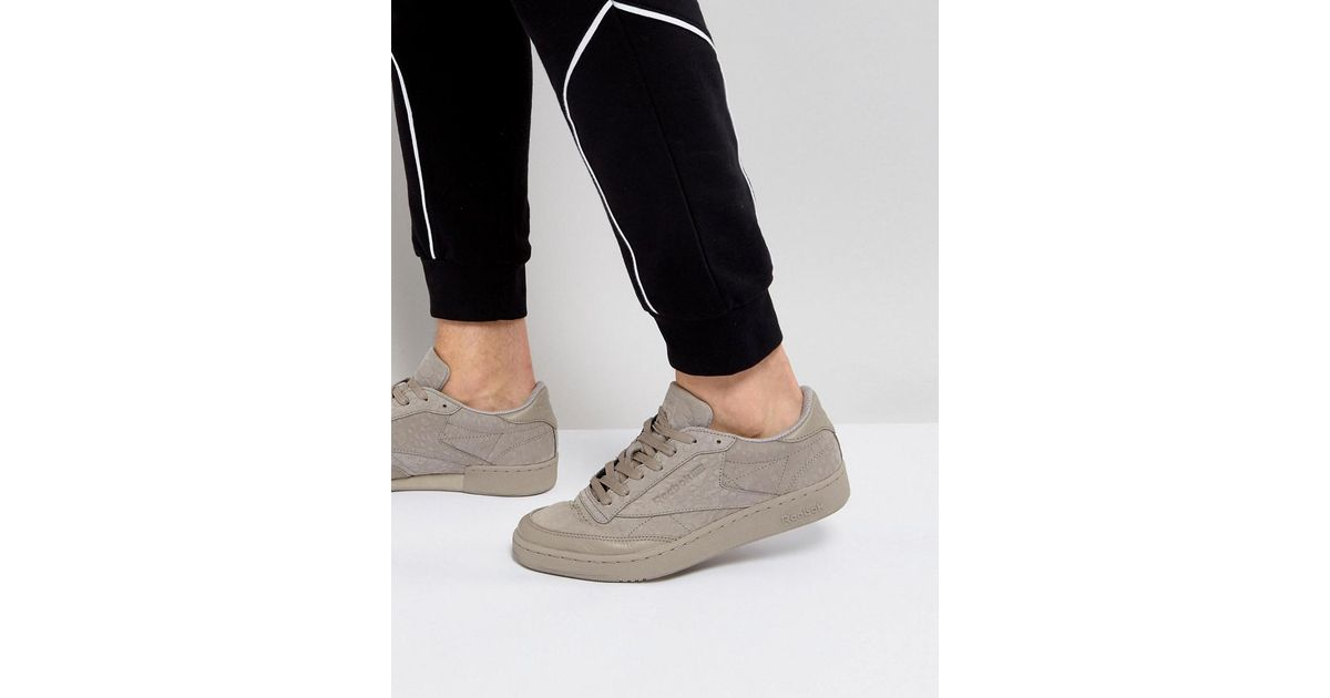 952ff3372f50 Reebok Club C 85 Rs Trainers In Grey Bs7855 in Gray for Men - Lyst
